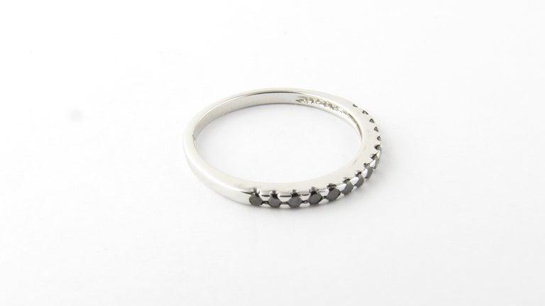 18 Karat White Gold Black Diamond Ring For Sale 3