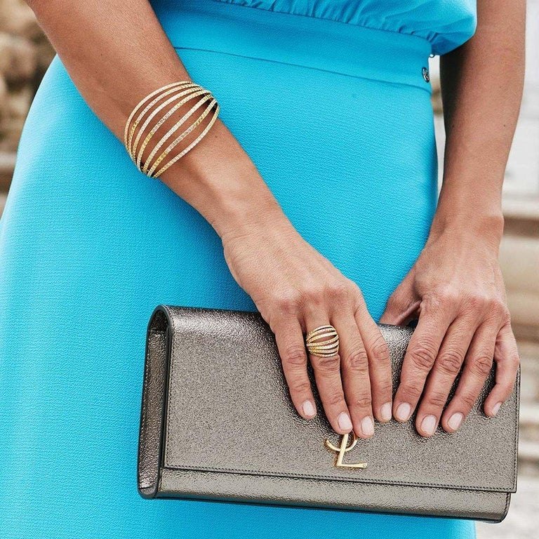18 Karat White Gold Blue Sapphires Ring Aenea Jewellery For Sale 4