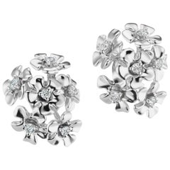 18 Karat White Gold Bouquet Earrings with Diamonds
