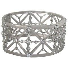 18 Karat White Gold Bracelet with 6.75 Carat White Sapphires