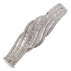 18 Karat White Gold Bracelet with Diamonds