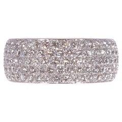 18 Karat White Gold Cartier 2.10 Carat Diamond Ring
