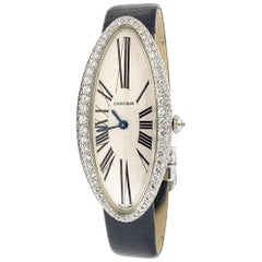 Cartier 18 Karat White Gold Baignoire Allongée Diamond Watch