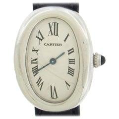 18 Karat White Gold Cartier Baignoire Wristwatch