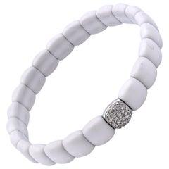 18 Karat White Gold Ceramic and Diamond Bracelet