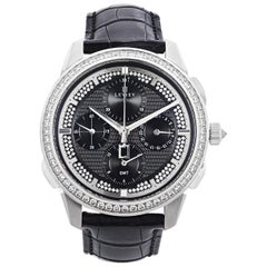 18 Karat White Gold Chronograph Wristwatch