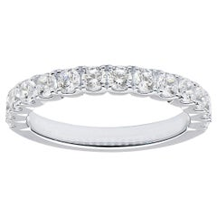 18 Karat White Gold Classic Diamond Band