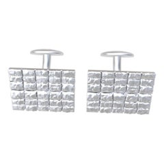 18 Karat White Gold Cufflinks