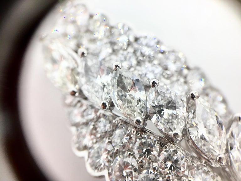 18 Karat White Gold Diamond and Tahitian Pearl Swirl Climber Earrings For Sale 5