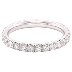 18 Karat White Gold Diamond Anniversary Band