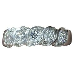 18 Karat White Gold Diamond Anniversary Ring
