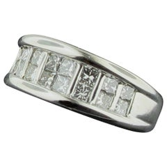 18 Karat White Gold Diamond Band