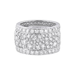 18 Karat White Gold Diamond Band Ring