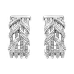 18 Karat White Gold Diamond Cocktail Earrings
