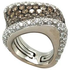 18 Karat White Gold Diamond Cocktail Ring by Palmiero