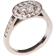 18 Karat White Gold Diamond Cocktail Ring
