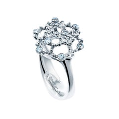 18 Karat White Gold Diamond Cocktail Ring