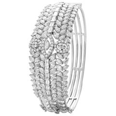 18 Karat White Gold Diamond Cuff Bracelet