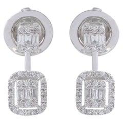 18 Karat White Gold Diamond Ear Jacket Earrings