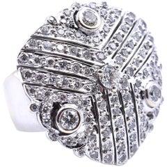 18 Karat Weißgold Diamantohrringe und Ring