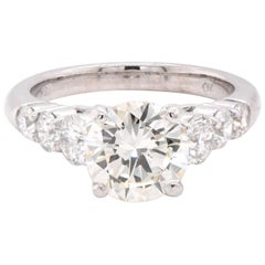 18 Karat White Gold Diamond Engagement Ring