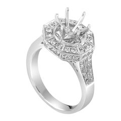 18 Karat White Gold Diamond Engagement Ring Mounting CRR5443
