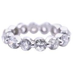 18 Karat White Gold Diamond Eternity Band