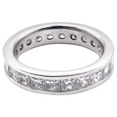 18 Karat White Gold Diamond Eternity Band