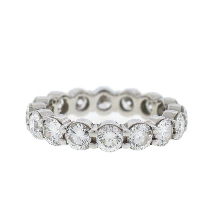 Company-N/A Style-Diamond Eternity Band Ring 3.75Cts  Metal-18k White Gold Size-6.50 Weight-5.89 grams Stones-Diamonds approx 3.75Cts tw Sku - 9091-2TMEE