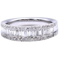 18 Karat White Gold Diamond Fashion Band