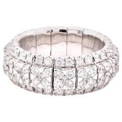 18 Karat White Gold Diamond Flexible Eternity Band