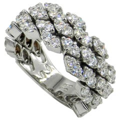 18 Karat White Gold Diamond Flexible Garavelli Ring