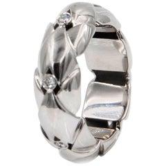 18 Karat White Gold Diamond Garavelli Ring