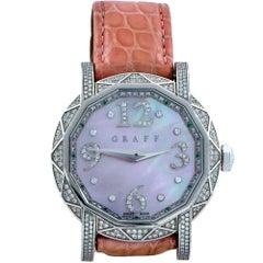 Graff White Gold Diamond Graffstar Limited Edition Wristwatch