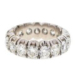 18 Karat White Gold Diamond Ladies Eternity Band Ring