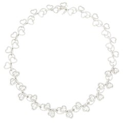 18 Karat White Gold Diamond Necklace