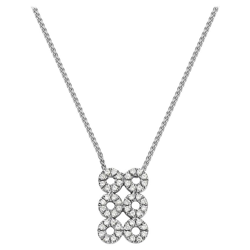 18 Karat White Gold Diamond Pendant Necklace