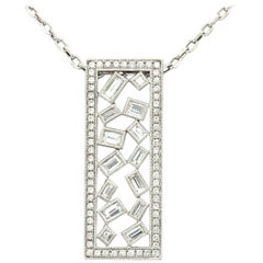 18 Karat White Gold Diamond Pendant on Chain