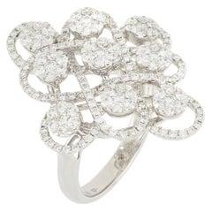 18 Karat White Gold Diamond Ring