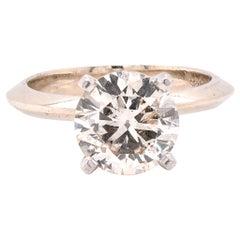 18 Karat White Gold Diamond Solitaire Engagement Ring