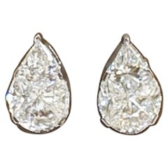 18 Karat White Gold Diamond Studs