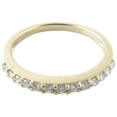 18 Karat White Gold Diamond Wedding Band