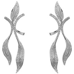18 Karat White Gold Diamonds Earrings