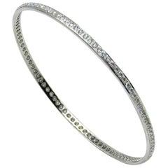 18 Karat White Gold Diamonds Garavelli Bangle Bracelet