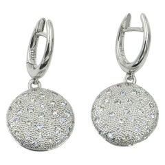 18 Karat White Gold Diamonds Garavelli Earrings