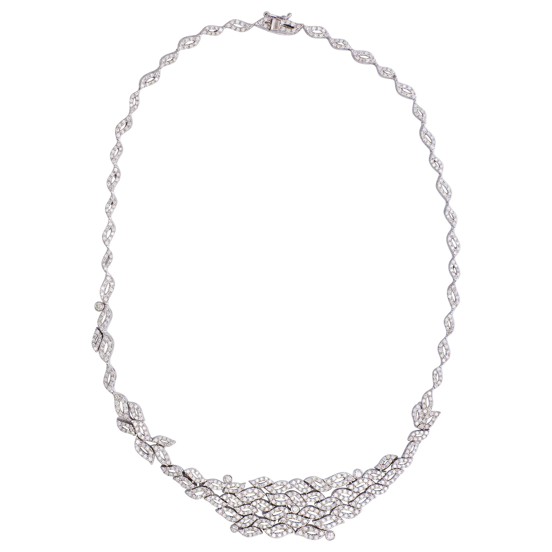 18 Karat White Gold Diamonds Necklace 'Collier'
