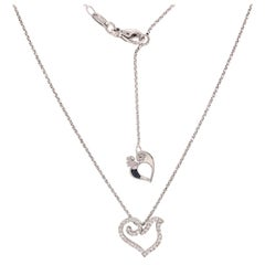 18 Karat White Gold Dove Diamond Pendant Necklace