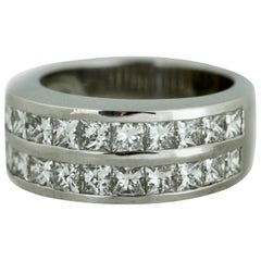18 Karat White Gold Eternity Band
