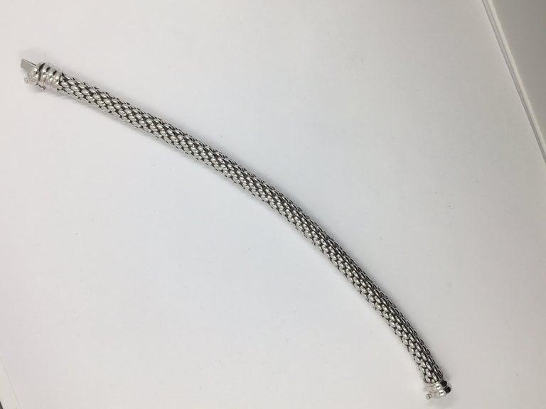 Women's or Men's 18 Karat White Gold Fope Bracelet For Sale