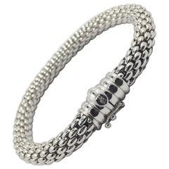 18 Karat White Gold Fope Bracelet